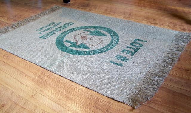 unique coffee bag rug