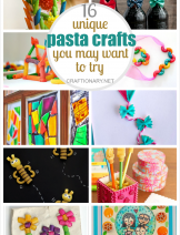 Unique pasta crafts for adults and kids