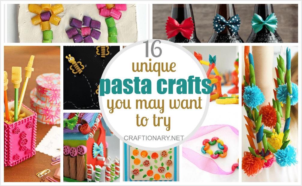 Unique pasta crafts at craftionary.net