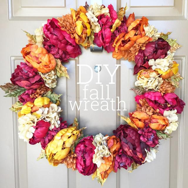 DIY fall flowers wreath