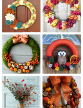 DIY Fall Wreaths for home decor via craftionary.net