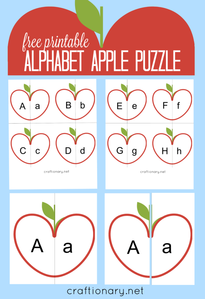 Craftionary. Alphabet Puzzle Free Printable. Printable. Alphabet Printable At Mspartners.co
