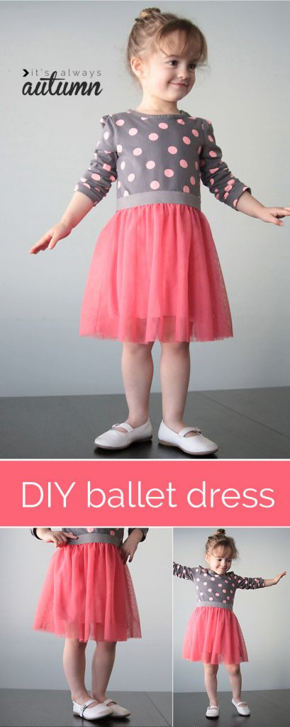 Ballet dress - how to sew tulle skirt tshirt?