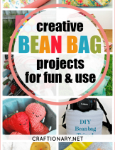 Creative bean bag crafts for kids, party and use with DIY tutorials and free patterns at craftionary.net