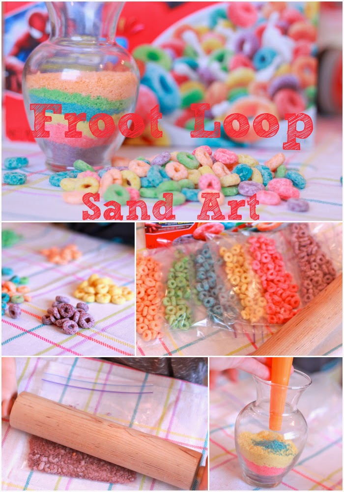 Cereal crushed sand for making art for kids