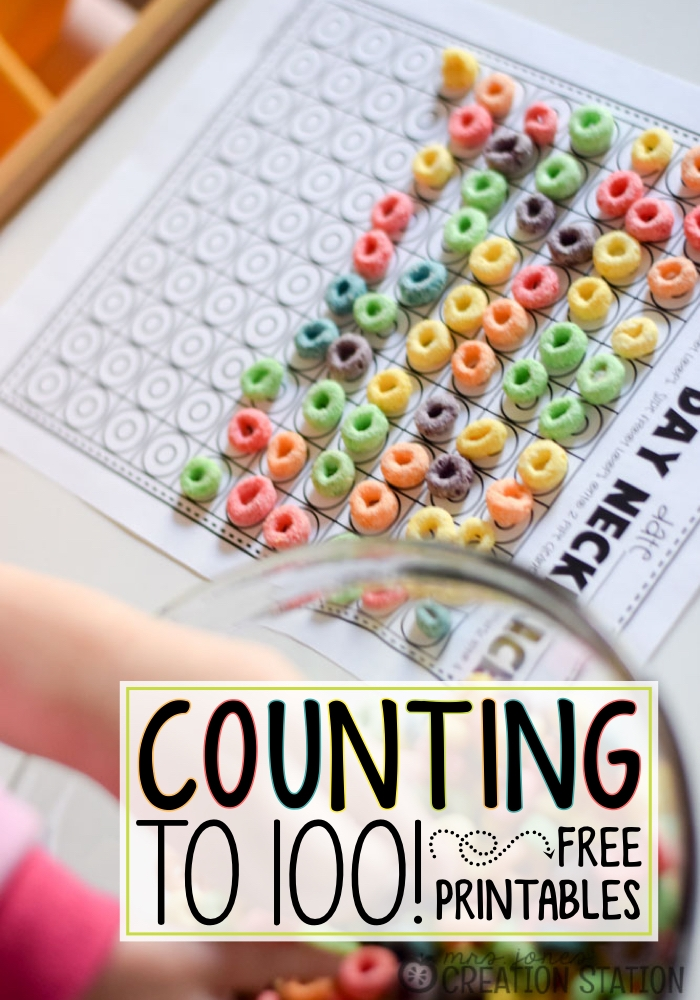 kids activity - Counting to hundered with cereal
