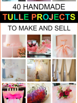 DIY tulle fabric projects to make and sell