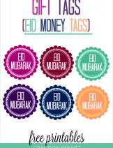 Eid money printable tags