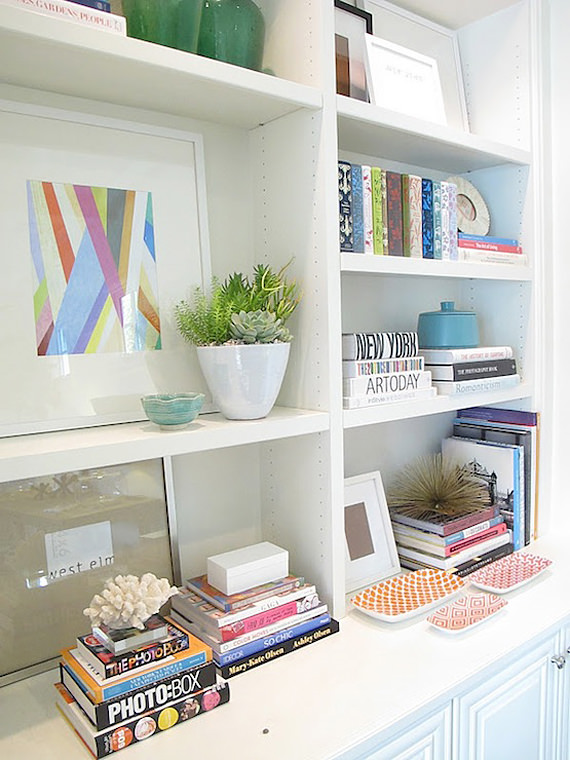 how to style book shelf