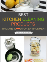 Kitchen cleaning products that are good for environment