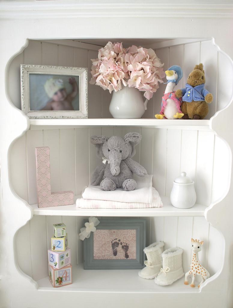 lily's budget nursery shelf