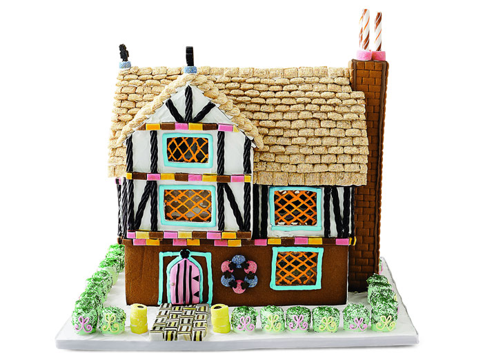 Modern gingerbread houses