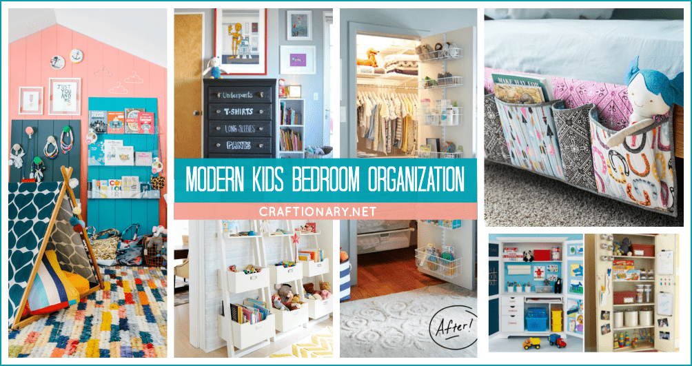 Modern kids bedroom organization