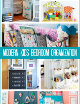 Modern kids bedroom organization ideas with easy ideas that will suit any size room and any age kid with gender neutral projects that make customization quick and trouble free
