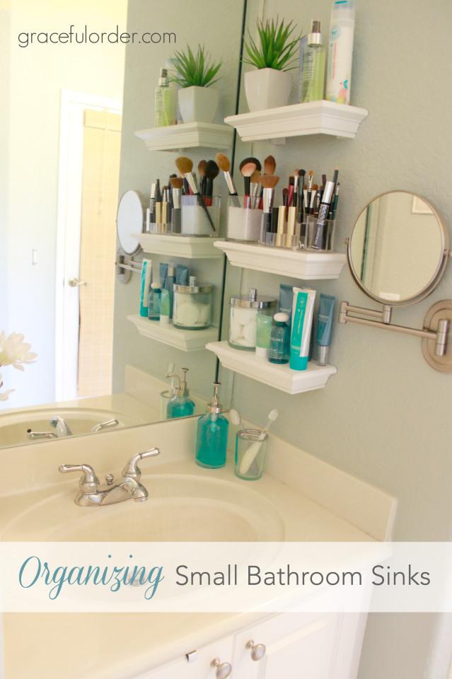 Organizing small bathroom sink