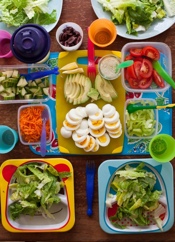 Salad bar for kids party