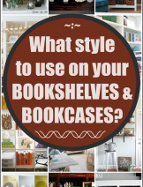 Styling bookshelves and bookcases according to expert home decor advise and tips at craftionary.net