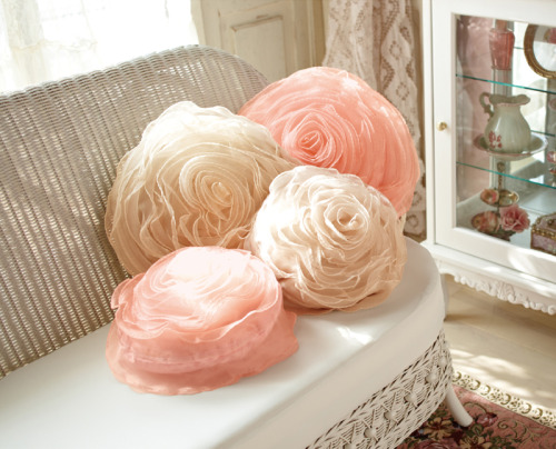 tulle rose pillow