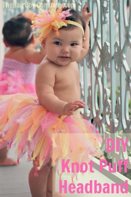 Tulle knot and puff headband and tutu