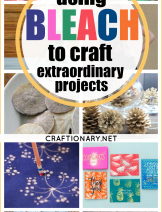 using bleach to craft