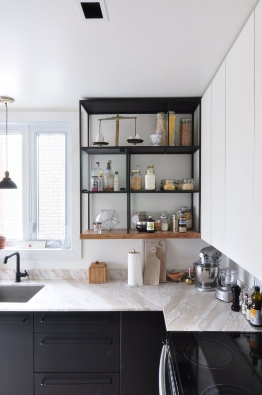 ways to make your open kitchen shelves look better