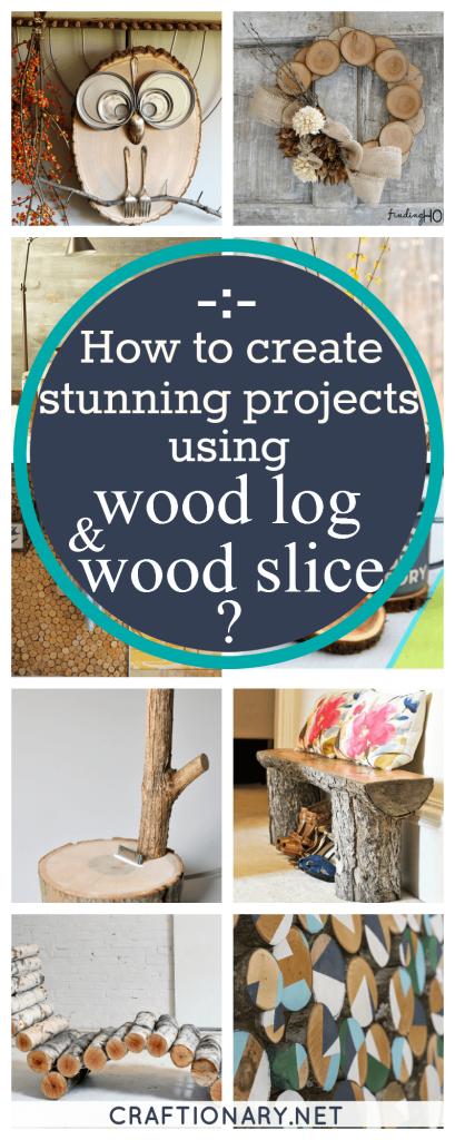 DIY wooden log wooden slice ideas