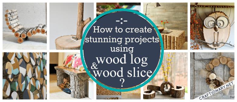 DIY wooden log slice ideas