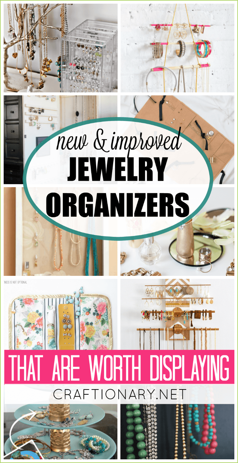 New and improved jewelry organizers that are worth displaying with tutorials and instructions to make your own