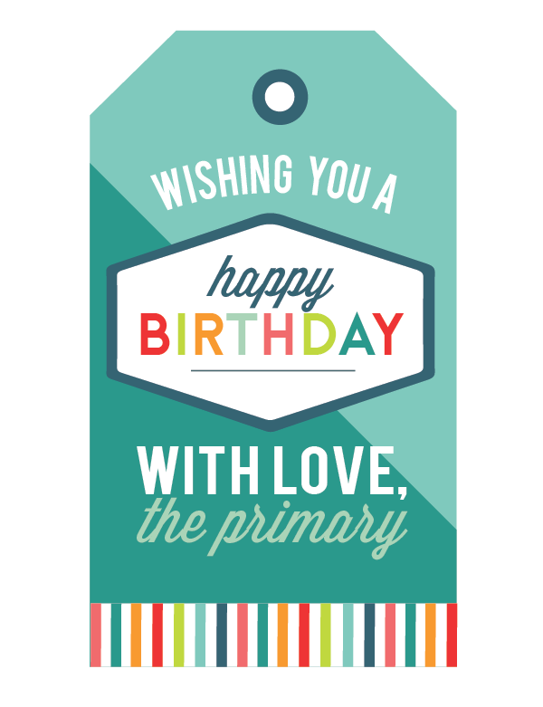 photograph relating to Birthday Tag Printable identify Craftionary