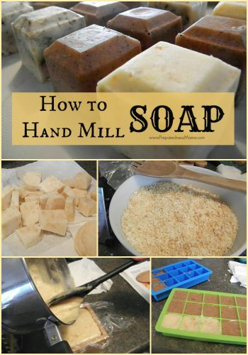 Hand mill soap from leftovers