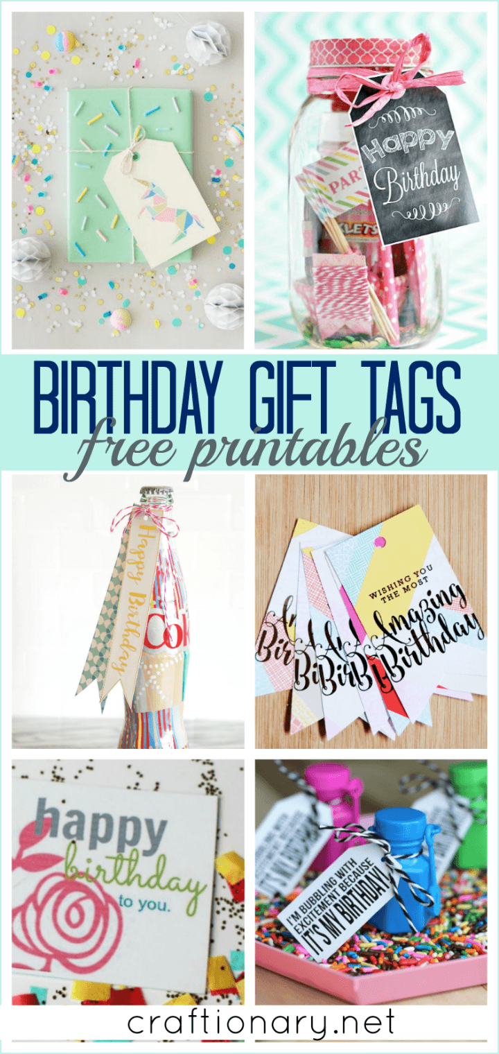 photograph relating to Birthday Tag Printable titled Craftionary