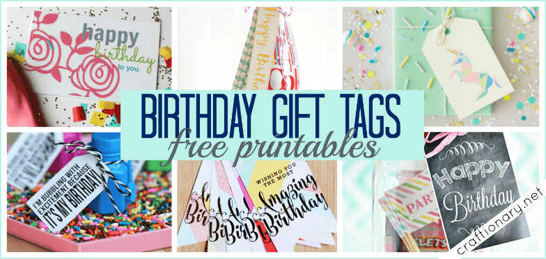 picture relating to Birthday Tag Printable named Craftionary