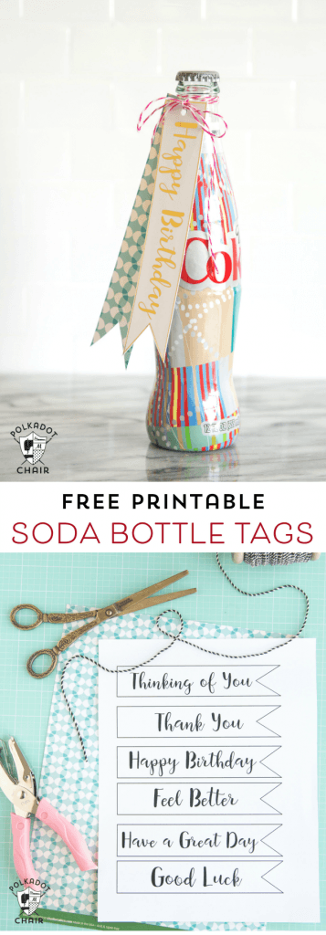 Birthday tags for bottle
