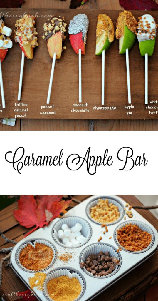 Candy caramel apple bar