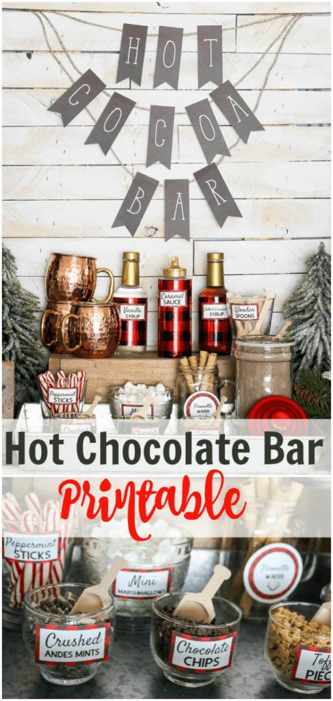 Hot choc bar printables