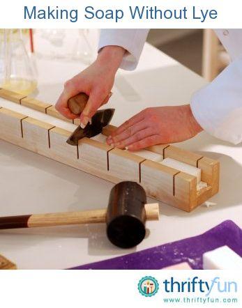 Making lye-free soap