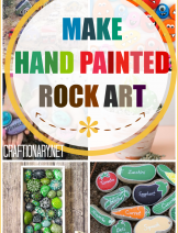 Rock painting ideas with creative painted stone and painted pebble art for home and garden that can be made with kids#paintedrocks #paintedpebbles #paintedstones