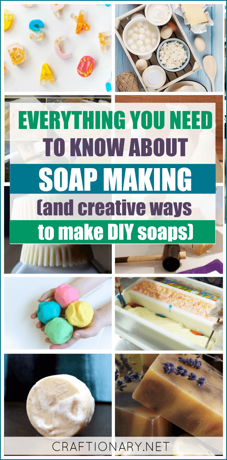 DIY soap making techniques and instructions about cold process along with tutorials to make DIY soaps